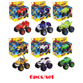 6pcs set Blaze Monster Machines Toys Vehicle Car Transformation Action Figure Toys With Original Box Christmas