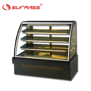 Marble base commercial display cake refrigerator showcase 3 Shelves