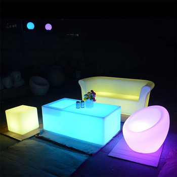 illuminated furniture event wedding party outdoor club led furniture set sectional sofas chair table with lighting