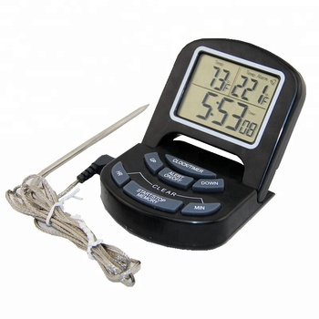 New Design Digital Cooking Oven Thermometer for Meat Grill and BBQ With Timer Function and Flexible Probe