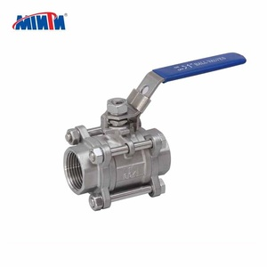 MT Manufacturer hand operated end 1/2 inch manual stainless steel 3-pcs ball valve