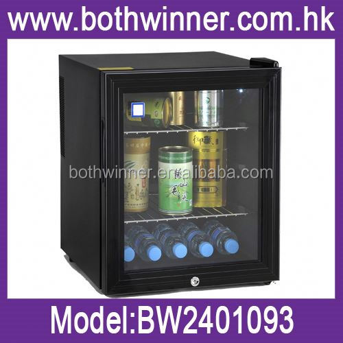 Guest room mini freezer ,H0T017 no voice 40 liter glass door mini bar fridge , 60l mini freezer