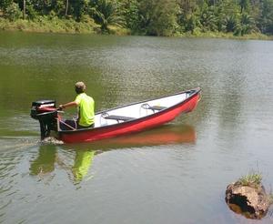 electric motor fishing canoe