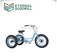 adult tricycle fat bike 20 inch three wheels fat tire bike snow cycling