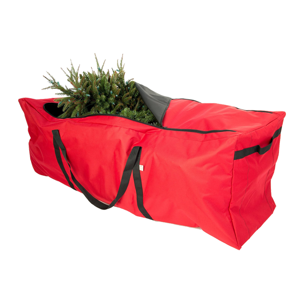 Frush Red Canvas Christmas Tree Zipper Storage Bag Large For 9 Foot