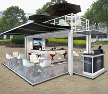 Hydraulic system 20ft shipping container cafe design/ Pop-Up mobile cafe container for sale