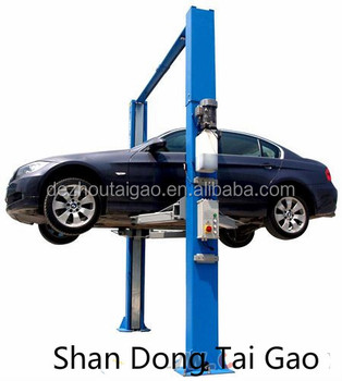 3.5T movable two post lift 2 column lift car hoist auto elevator vehicle lifting machine with CE Shandong