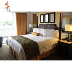 Guangzhou standard hotel furniture custom cheap modern wooden bedroom sets