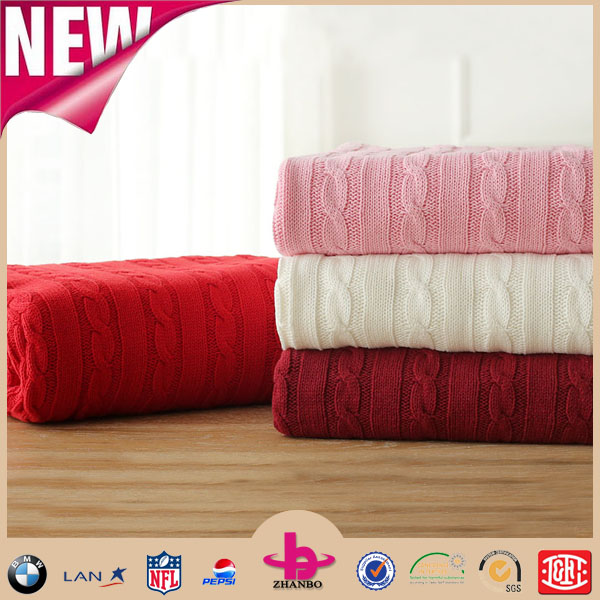 Several colors can be chose or customized acrylic blanket bed blankets summer blanket chunky knit throw