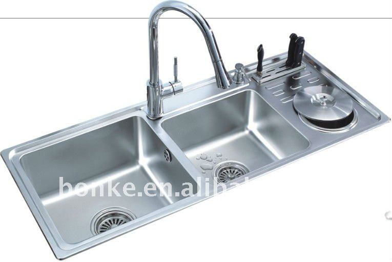 Aço Inoxidável Kitchen Sink Com Dish Drainer Bk 8805   Buy Product On  Alibaba.com Design