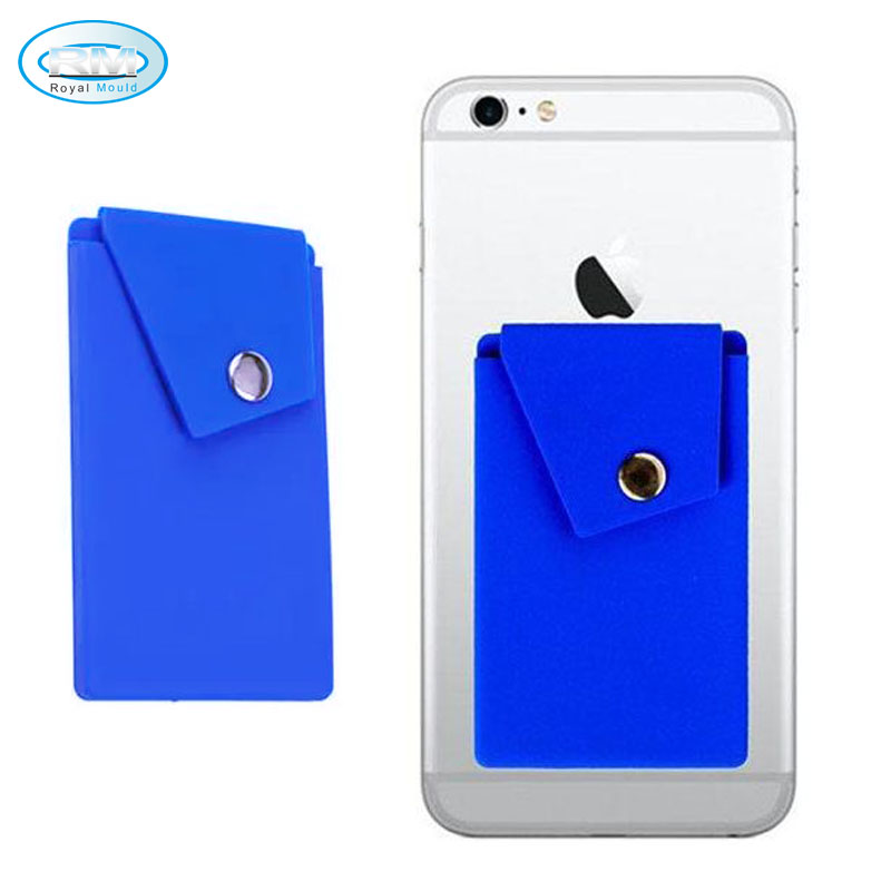 Silicone Card Holder Adhesive Sticker Cell Phone Credit Card Holder, Phone Case Wallet