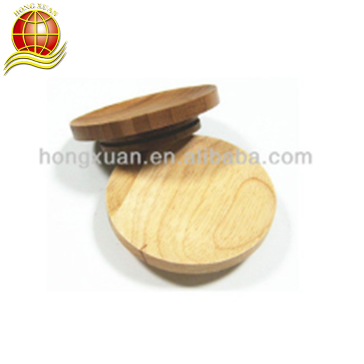 New Design Custom Top Quality Rubber Wood 4pcs Wine Glass Cover