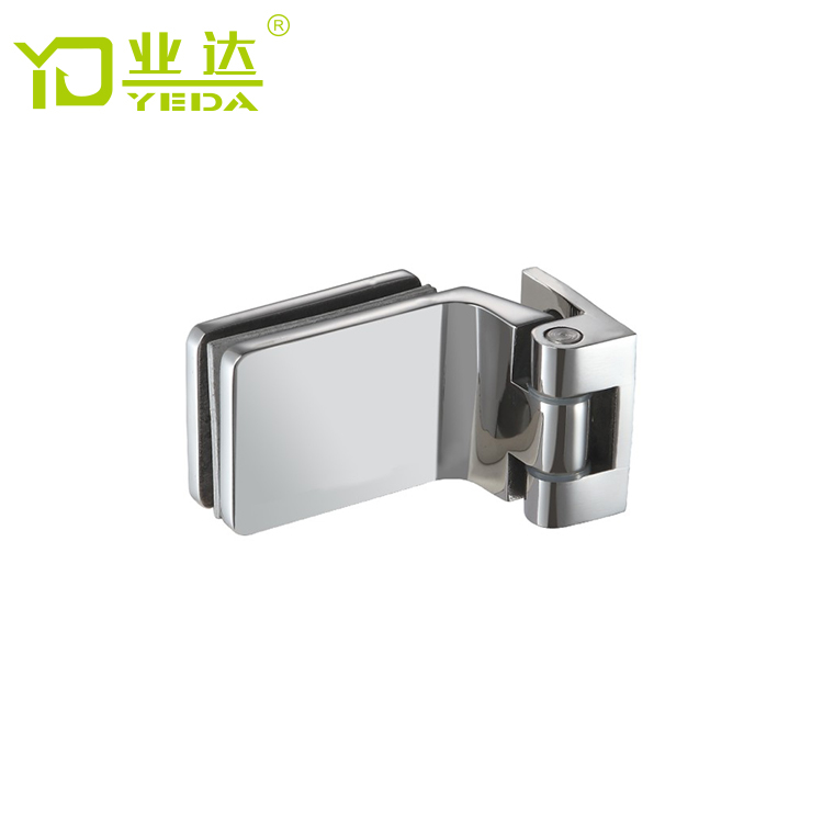 Factory supply rvs badkamer fittings muur glazen douche deur scharnier