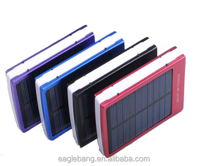 Wireless mobile phone charger,solar panel power bank 10000mah