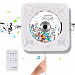 Portable CD Music Player Wireless Wall Mountable Home Audio Boombox with Remote Control FM Radio Built-in HiFi Speakers, MP3