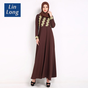 New Fashionable Muslim Dress Dubai Kaftan For Woman Turchia Lace Abaya