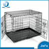 24 inch folding metal pet crate with double door and divider