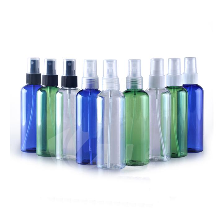 100 ml runde schulter spray PET flasche mit Feinen Nebel Sprayer pumpe