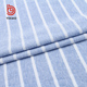 yarn dyed cotton cloth blue and white stripe single jersey shirt fabric roll wholesale