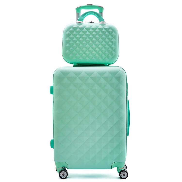 3 pcs ensemble de bagage DE Chariot À ABS, valise à roulettes, étui de beauté