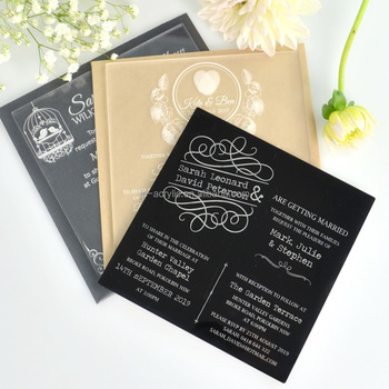 Wedding Invitation Printing.Custom Elegant Acrylic Engraved Or Printing Royal Style Acrylic Wedding Invitations Greeting Card Buy Invitation Card Wedding Card Wedding