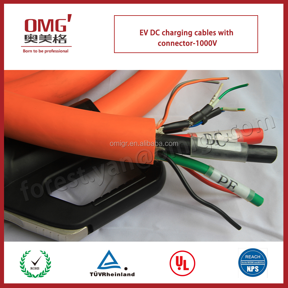 popular DC charging cables-1000V for EV battery and charging post to electric vehicle