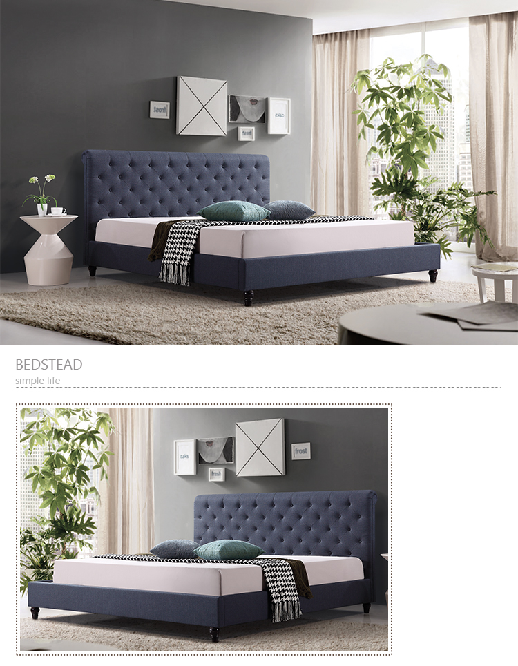 new fashion modern bed frame design for king size bed