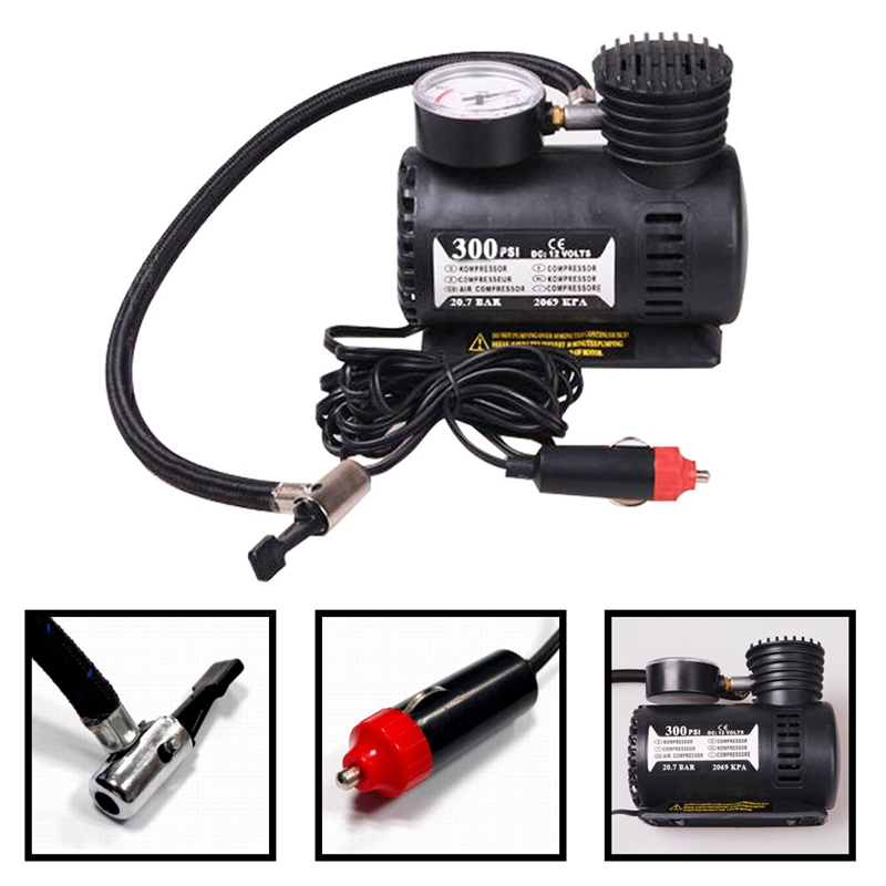 12V Portable Auto Car Electric Air Compressor Tire Inflator Pump 300 PSI XR for Motorbike B Tire Inflator Pump Car