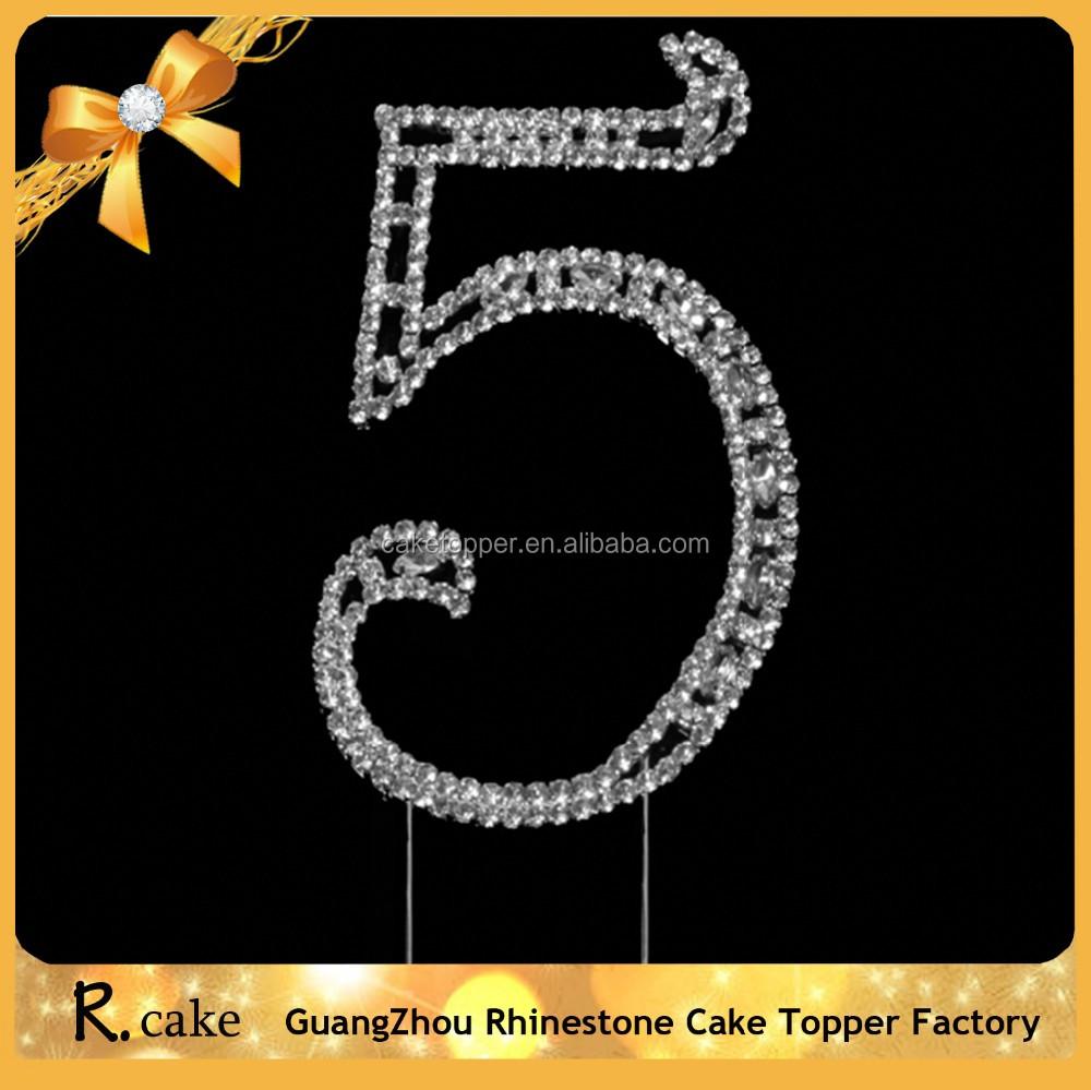 Happy Valentine Day Cake Topper Gold