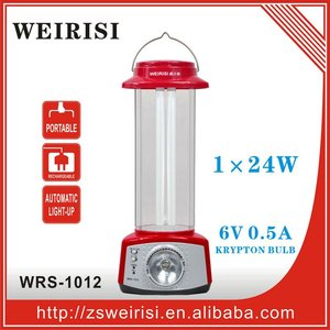 6V 4.5Ah lead-acid battery rechargeable portable emergency lamp with krypton torch