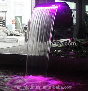 LED lights water cascade shower for swimming pool