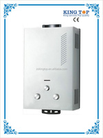 16L high pressure coated panel Flue type LPG gas water heater with CE