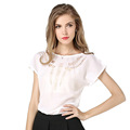 New Fashion Summer Women Shirt Casual Slim Hollow Out Novelty Loose Shirt Short Sleeve Daily Work