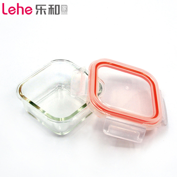 Quality Chinese made product Square Microwave Oven Safe Glass food container with lock/lunch box