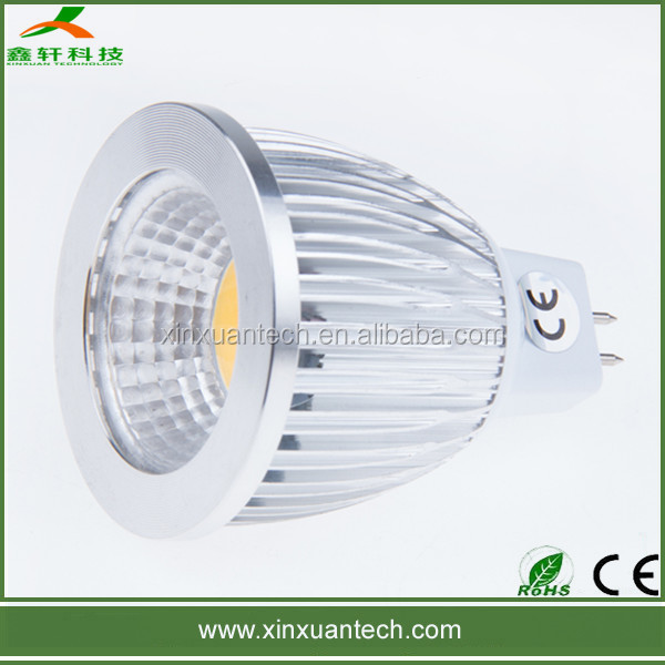 Dimmable 4w MR16 GU10 small led profile spot light COB aluminum series