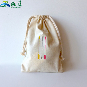 Custom Logo Promotional Printing Small Backpack Drawstring 100% Cotton  Drawstring Bag 94d82000c45b
