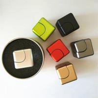 Fidget cube Hand Spinner EDC Aluminium alloy Magic Cube Square Hand Spinner Alloy Fidget Cube Toy