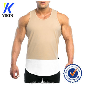 c013c88ce4fd52 2017 fashion stylish tank top designer casual tops nude color short front  long back gym singlet