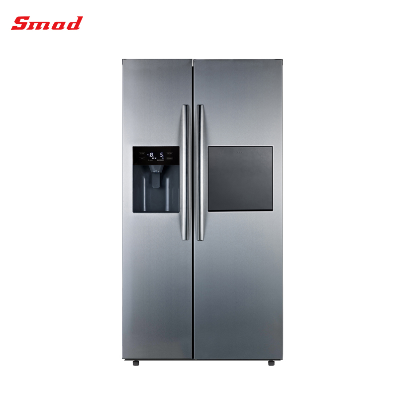Home Appliance Refrigerator Side By Side Door (Stainless Steel Color, Net687L)