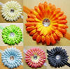 2016 infant headbands Crochet headbands Gerbera Daisy flower baby rhinestone headbands kid's hair accessories