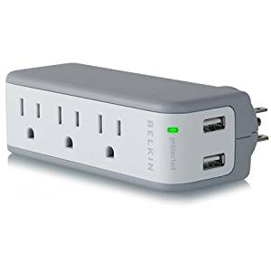"Belkin, Mini Travel Surge Protector With Usb Charger Surge Suppressor 5 Output Connector(S) ""Product Category: Ups/Power Devices/Surge Suppressors & Isolators"""