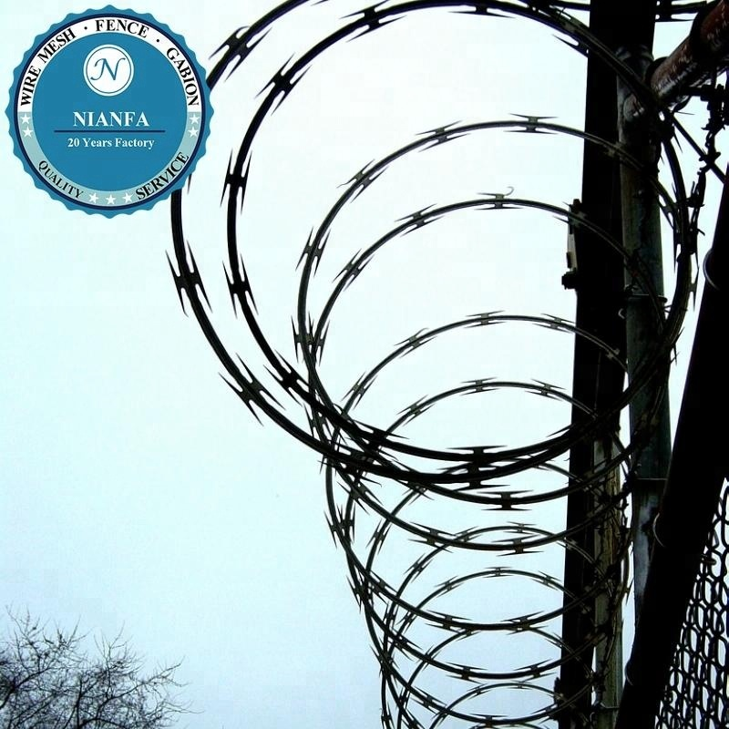 Boundary Used Military Iron Razor Barbed Wire