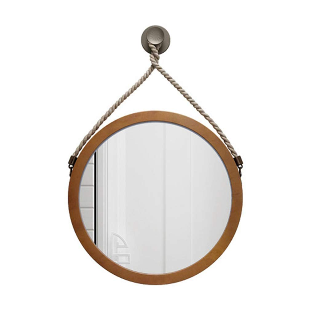 Color : Gold, Size : 40cm Round Makeup Vanity Mirror Butterfly Decoration with Chain and Hook Metal Framed Wall Mounted Mirror,Bathroom Vanity Mirror