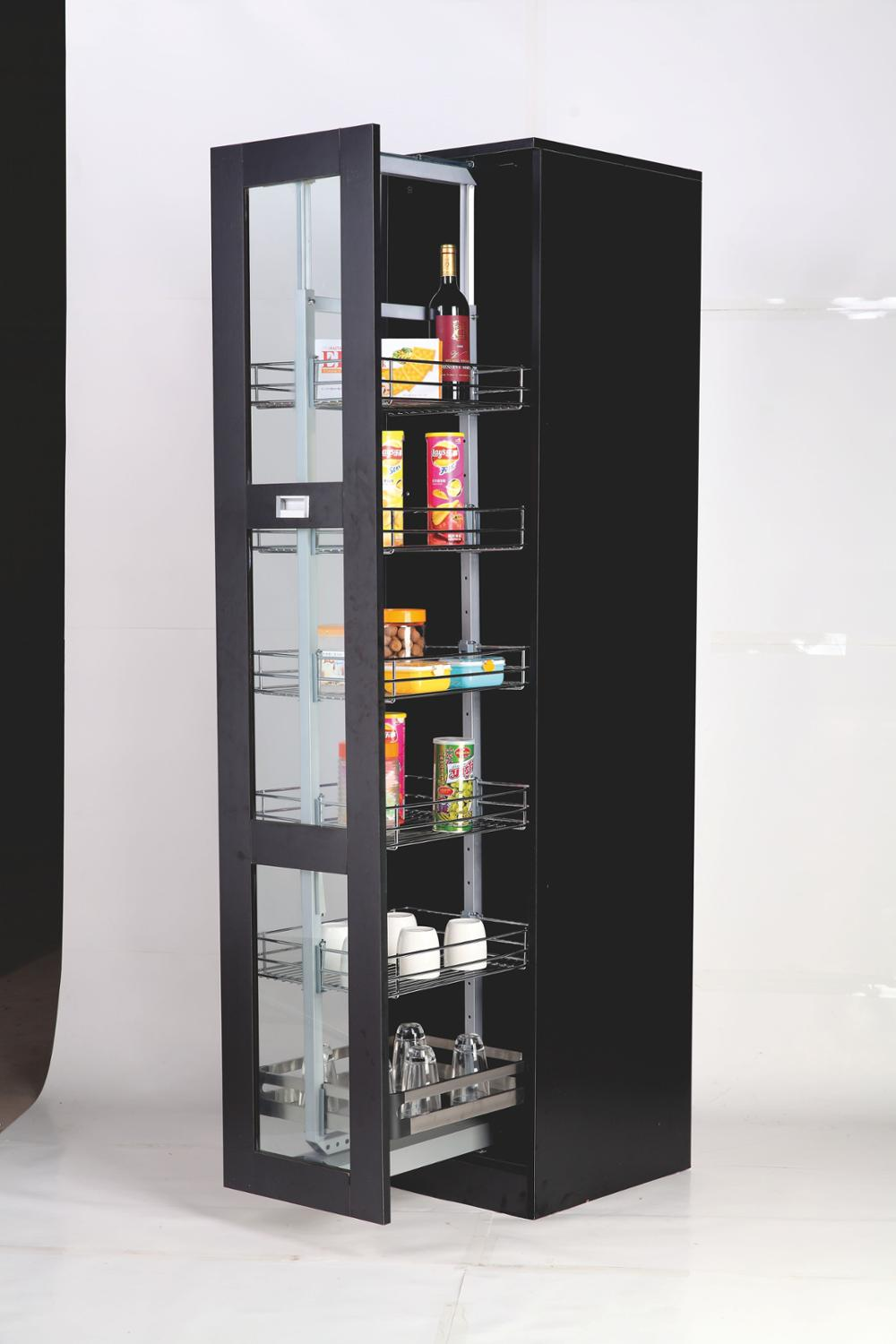 Kitchen Cabinet Soft Close 400mm Wide Pull Out Tall Larder Unit Pantry organizer