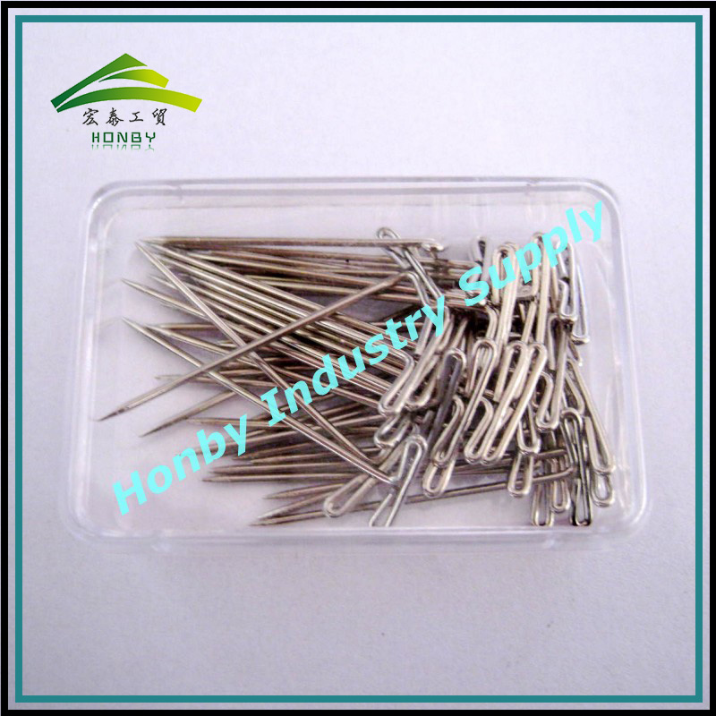 Plastic Box Packing 38mm Nickle Plated Sequin Pins For Knit Marker