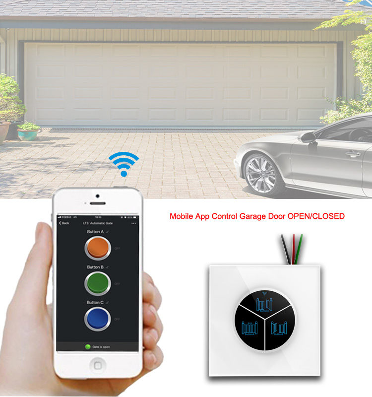 Phone App Remote Control Garage Door Opener Switch Alexa Voice