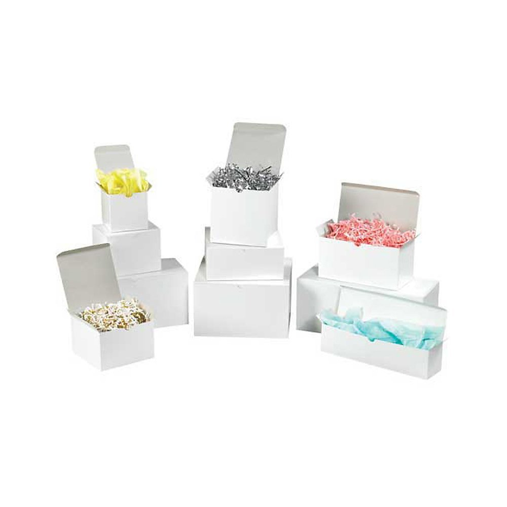 RetailSource TA200 Gift Box Assortment Pack (200 White Gloss Boxes) (Pack of 200)