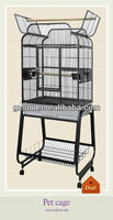 Wrought iron flight bird cage with plastic tray