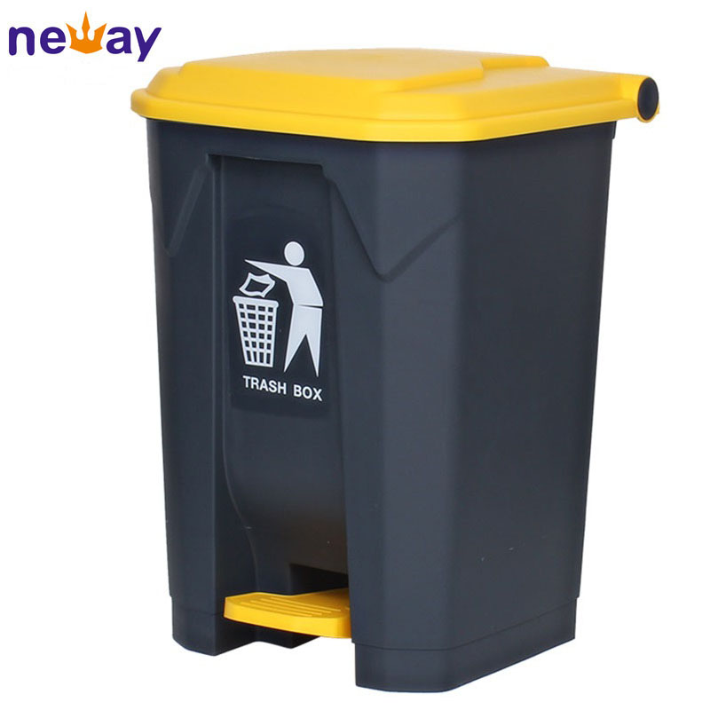 Office Large Capacity Plastic Pedal Waste Container
