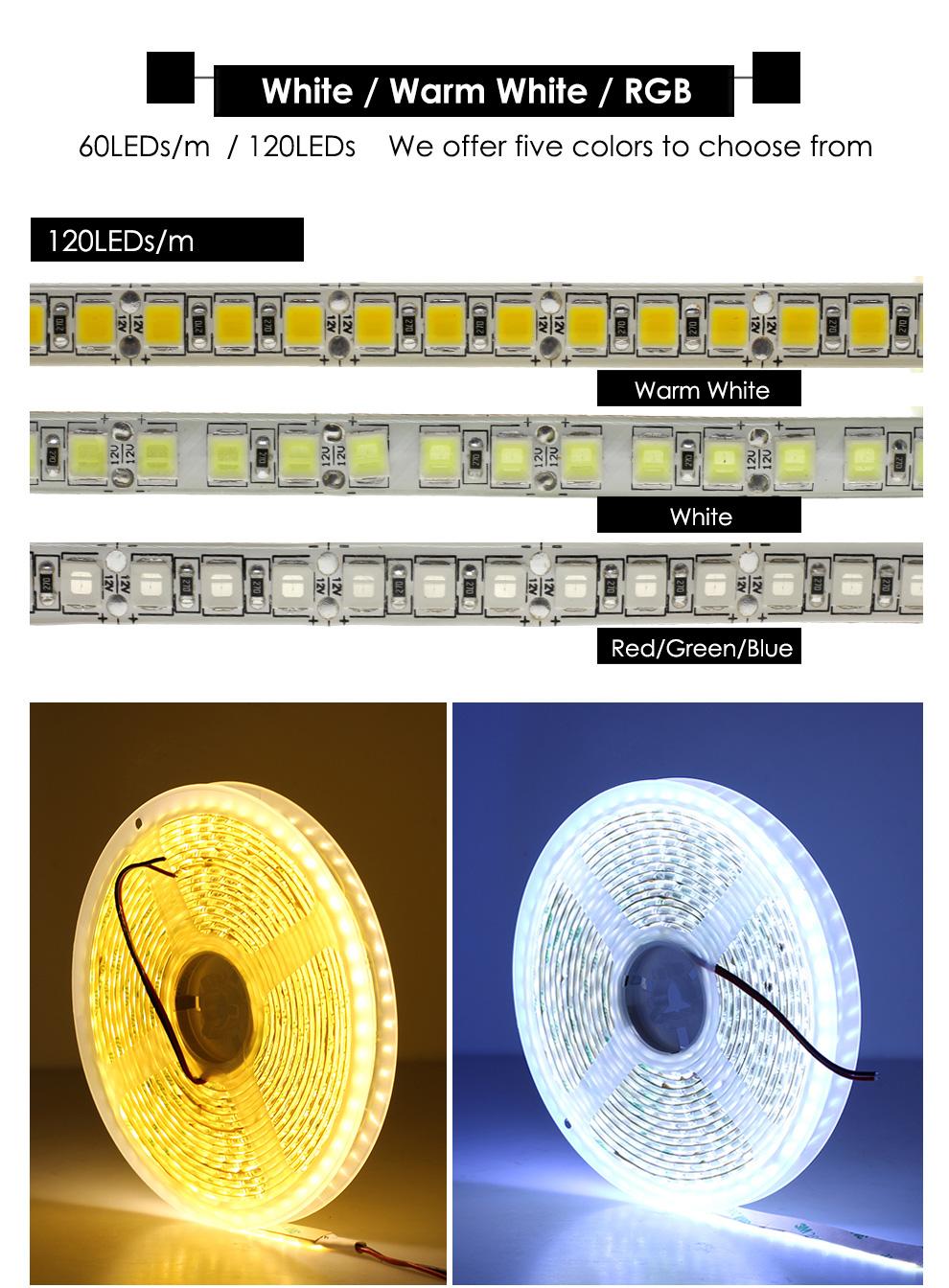 FEICAN Brighter LED Strip 5054 300leds DC12V Flexible LED Strip Light